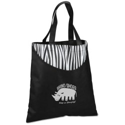 View a larger, more detailed picture of the Designer Print Scoop Tote - Zebra