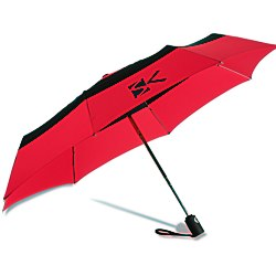 View a larger, more detailed picture of the totes Auto Open Close Color Block Umbrella