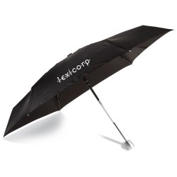 View a larger, more detailed picture of the totes Mini Auto Open Close Umbrella w Case - Black