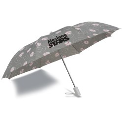 View a larger, more detailed picture of the Sports League Auto Open Umbrella - Baseball