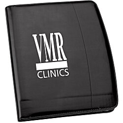 View a larger, more detailed picture of the Windsor Reflections Zippered Padfolio - 24 hr
