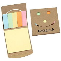 View a larger, more detailed picture of the Smiley Adhesive Notepad - 24 hr