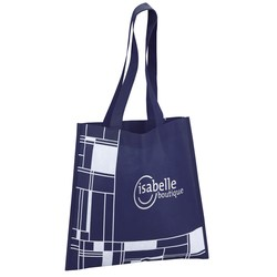 View a larger, more detailed picture of the Blocks Printed Tote - 24 hr
