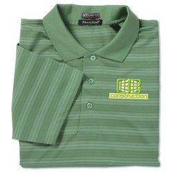 View a larger, more detailed picture of the SolarShield UPF 30 Jacquard Stripe Polo - Men s