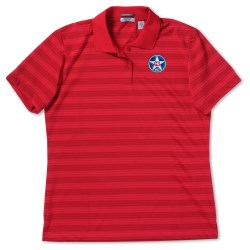 View a larger, more detailed picture of the SolarShield UPF 30 Jacquard Stripe Polo - Ladies