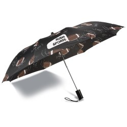 View a larger, more detailed picture of the Sports League Auto Open Umbrella - Football - Closeout