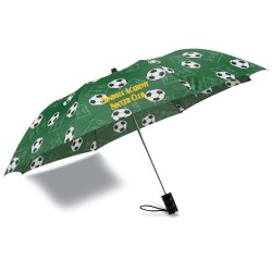 View a larger, more detailed picture of the Sports League Auto Open Umbrella - Soccer - Closeout