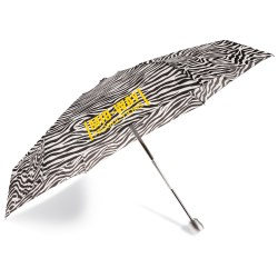 View a larger, more detailed picture of the totes Mini Auto Open Close Umbrella w Case - Zebra