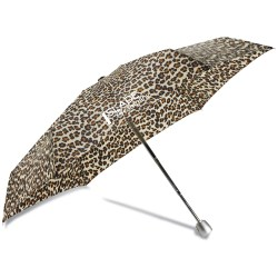View a larger, more detailed picture of the totes Mini Auto Open Close Umbrella w Case - Leopard