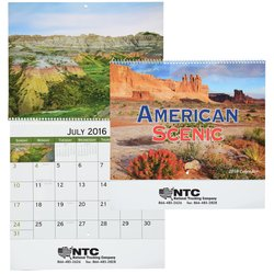 View a larger, more detailed picture of the American Scenic 2015 Calendar - Spiral - Closeout