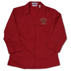 View a larger, more detailed picture of the Jockey Essentials Solid Poplin Shirt - Ladies