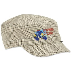 View a larger, more detailed picture of the Peter Grimm Cadet Cap - Khaki Plaid