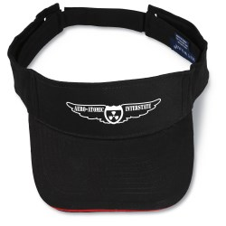 View a larger, more detailed picture of the Brushed Cotton Sandwich Visor - Screened