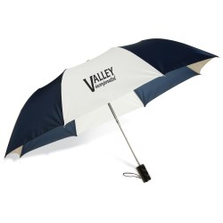 View a larger, more detailed picture of the Barrister Auto Opening Folding Umbrella - Tricolor - 24 hr