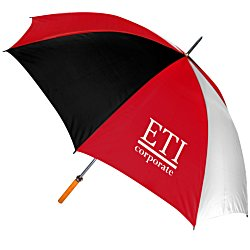 View a larger, more detailed picture of the Pro-Am Golf Umbrella - Tricolor - 24 hr