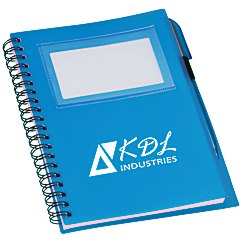 View a larger, more detailed picture of the Business Card Notebook w Pen - Translucent