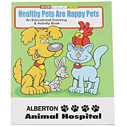View a larger, more detailed picture of the Healthy Pets Are Happy Pets Coloring Book