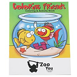 View a larger, more detailed picture of the Coloring Friends Coloring Book