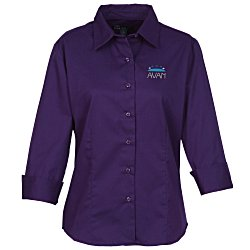View a larger, more detailed picture of the Blue Generation Peached Fine Line Twill Shirt Ladies