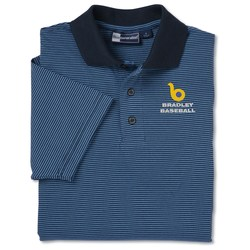 View a larger, more detailed picture of the Blue Generation Shadow Stripe Polo - Men s