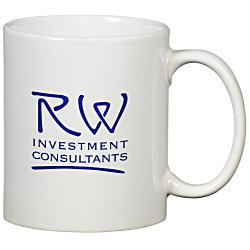 View a larger, more detailed picture of the Value White Mug - 11 oz