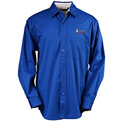 View a larger, more detailed picture of the Blue Generation LS Peached Fine Line Twill Shirt Men s