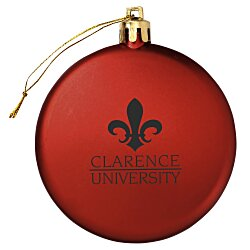View a larger, more detailed picture of the Satin Flat Ornament