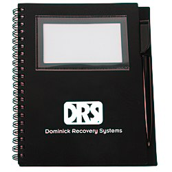 View a larger, more detailed picture of the Business Card Notebook w Pen - Opaque