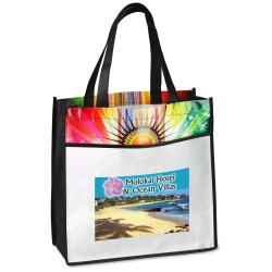View a larger, more detailed picture of the Laminated Sunburst Tote - Full Color
