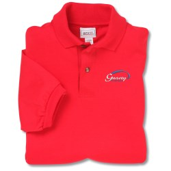 View a larger, more detailed picture of the Anvil 50 50 Jersey Knit Polo - Embroidered - Colors