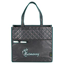 View a larger, more detailed picture of the Laminated Quilted Carry-All Tote