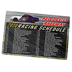 View a larger, more detailed picture of the NASCAR Racing Schedule Magnet - 30 mil
