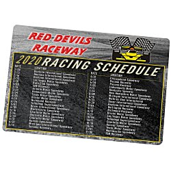 View a larger, more detailed picture of the NASCAR Racing Schedule Magnet - 20 mil