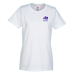 View a larger, more detailed picture of the Hanes ComfortSoft Tee - Ladies - Screen - White