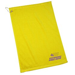 View a larger, more detailed picture of the Economy Golf Towel w Grommet and Clip - 24 hr