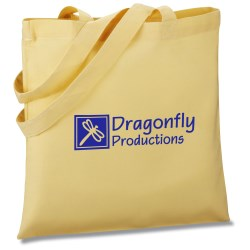 View a larger, more detailed picture of the V Natural Colored Cotton Organic Sheeting Tote - Closeout