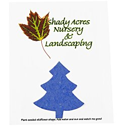 View a larger, more detailed picture of the Seeded Paper Shapes Mailer Postcard - 4 x 5 Tree