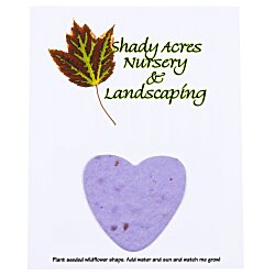 View a larger, more detailed picture of the Seeded Paper Shapes Mailer Postcard - 4 x 5 Heart
