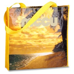 View a larger, more detailed picture of the PhotoGraFX Scapes Gusseted Tote - Beach - Closeout