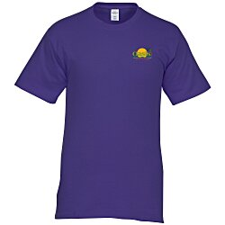 View a larger, more detailed picture of the Hanes Tagless 6 1 oz T-Shirt - Embroidered - Colors