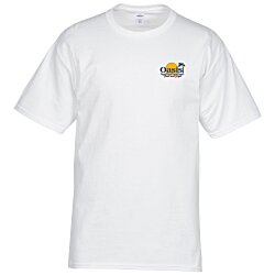 View a larger, more detailed picture of the Hanes Tagless 6 1 oz T-Shirt - Embroidered - White