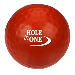 View a larger, more detailed picture of the Golf Ball Stress Ball - 24 hr