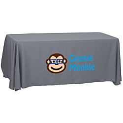 View a larger, more detailed picture of the Economy Open-Back Polyester Table Throw - 6 - 24 hr