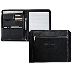 View a larger, more detailed picture of the Metropolitan Zippered Padfolio