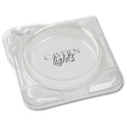View a larger, more detailed picture of the Cater Plate-Clear w Lid