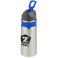 View a larger, more detailed picture of the Stainless Sport Bottle w Silicone Sleeve - 26 oz