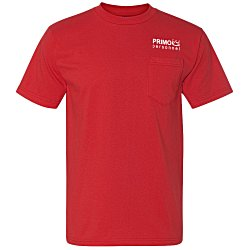 View a larger, more detailed picture of the Bayside Union Made Pocket T-Shirt - Colors