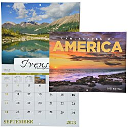 View a larger, more detailed picture of the Landscapes of America Calendar - Window