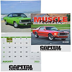 View a larger, more detailed picture of the Muscle Thunder Calendar - Stapled