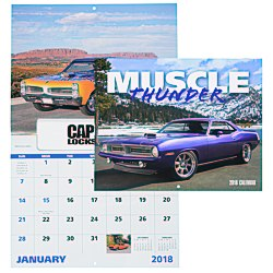 View a larger, more detailed picture of the Muscle Thunder Calendar - Window